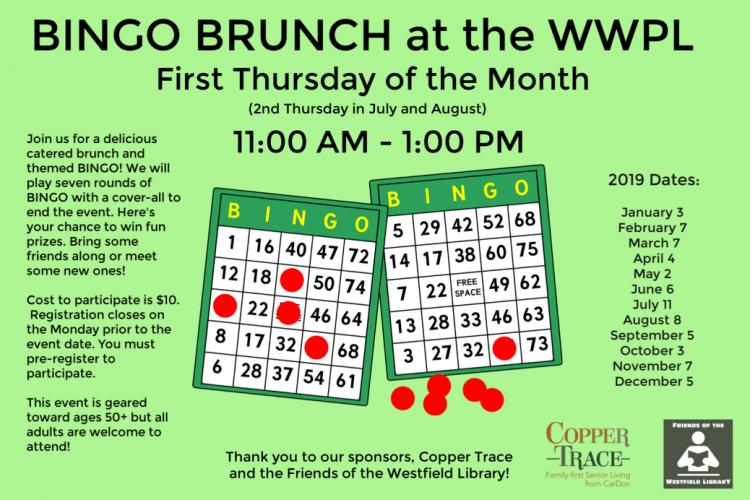 Bingo Brunch at Westfield Library