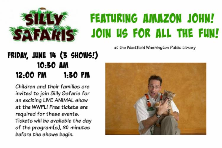Silly Safaris with Amazon John at Westfield Library