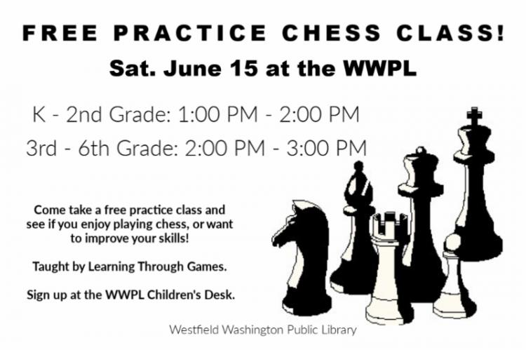 FREE Practice Chess Class at Westfield Library