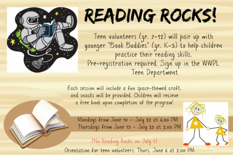 Reading Rocks Book Buddies at WWPL