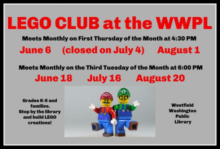 LEGO Club at Westfield Library