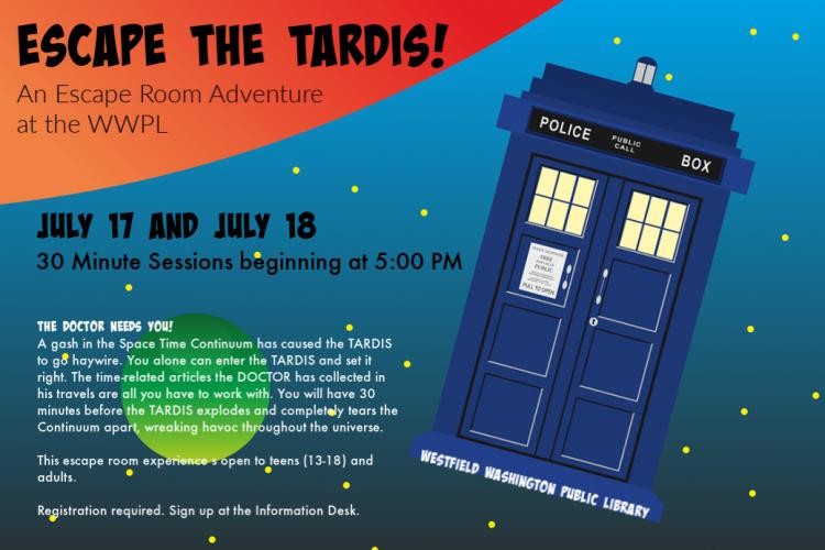 Escape the Tardis! at Westfield Library