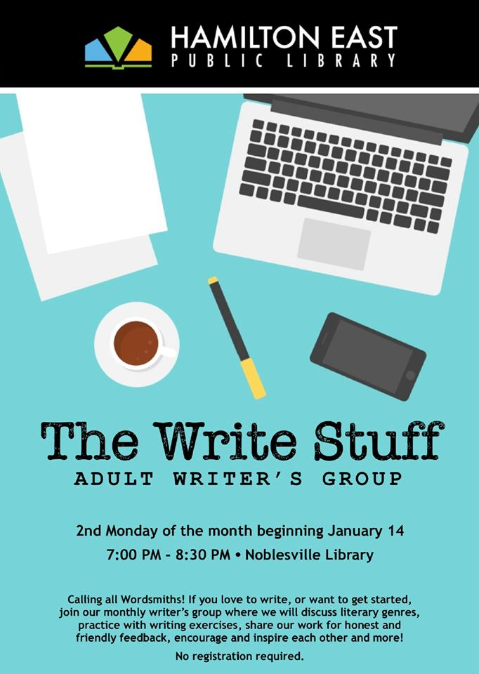 The Write Stuff! Adult Writer's Group at Noblesville Library