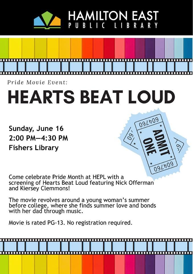 Hearts Beat Loud Screening at Fishers Library
