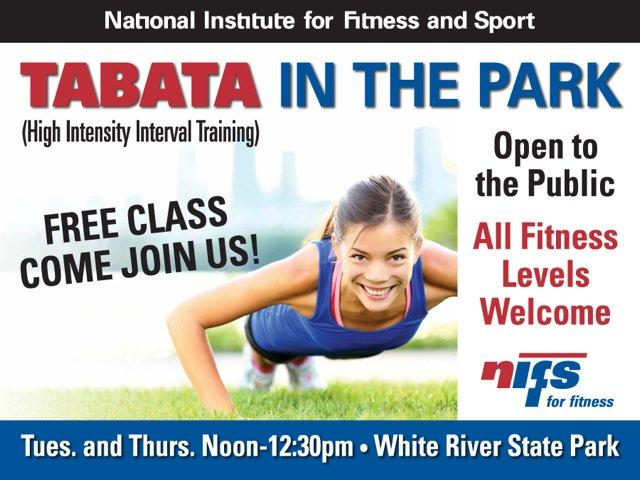 Free Tabata in the Park in White River State Park!