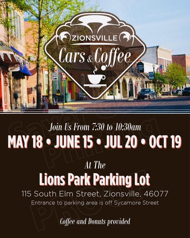 Zionsville Cars & Coffee at  Lions Park