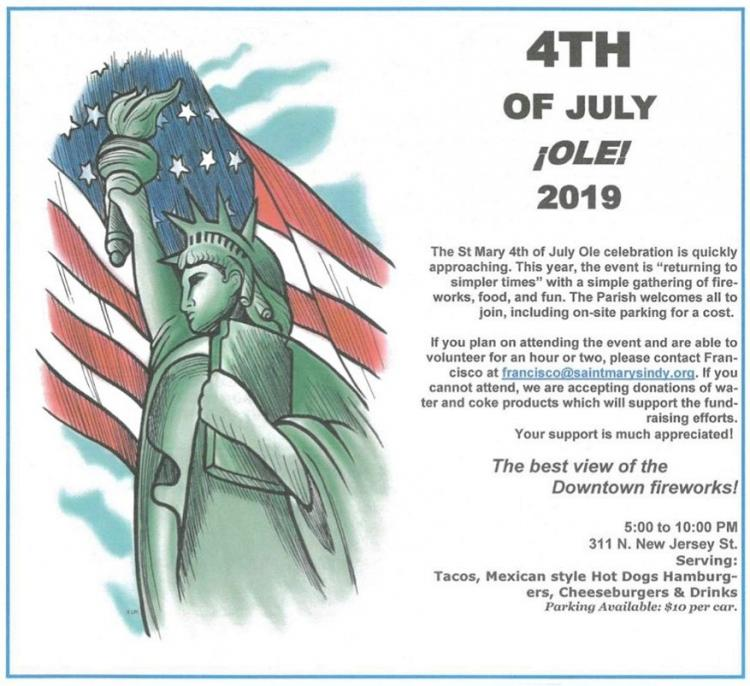 4th of July Ole' at Saint Mary Catholic Church!