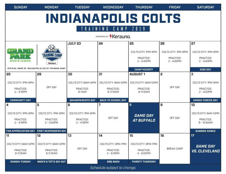 Colts Training Camp at Grand Park - Download Your FREE Ticket!