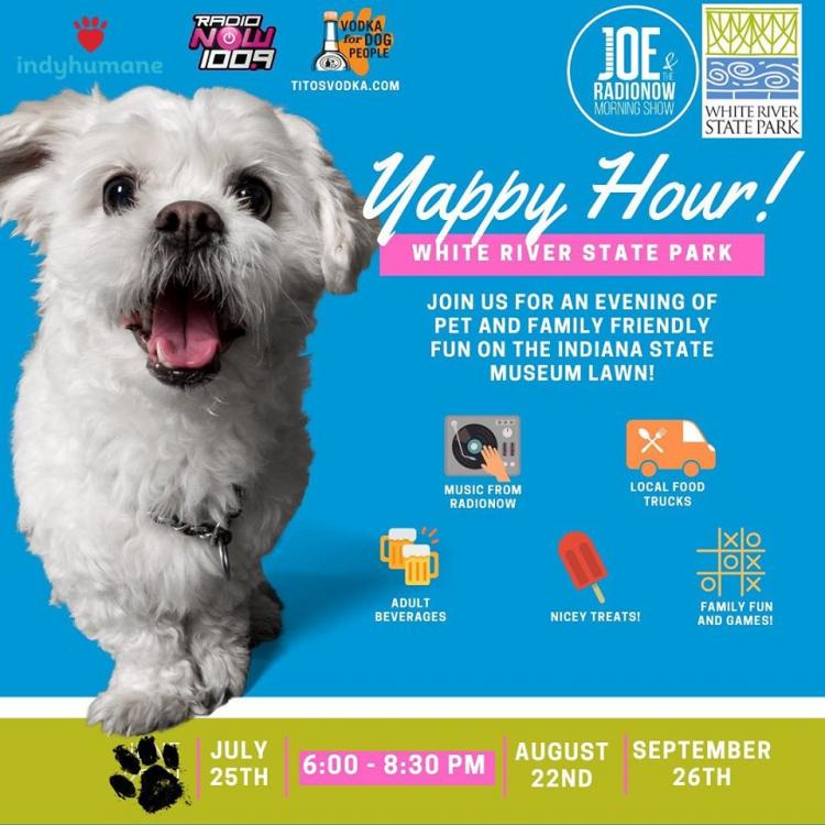 Yappy Hour at White River State Park!