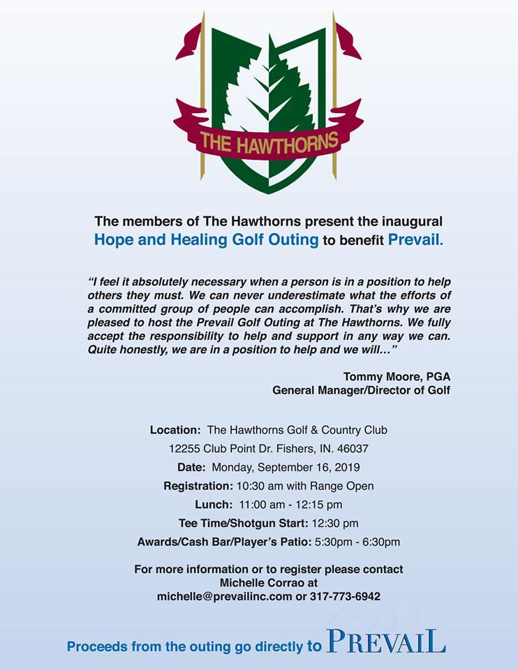 Hope & Healing Golf Outing to benefit Prevail