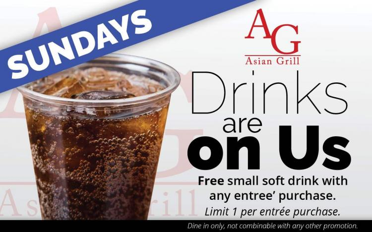 Soft Drink Sundays at Asian Grill!
