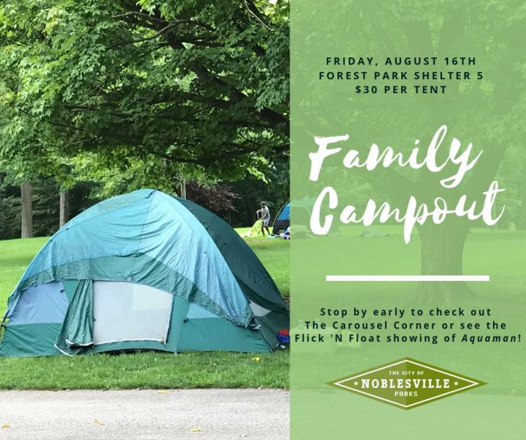 Family Campout at Forest Park - Noblesville