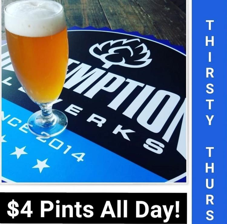 Thirsty Thursday at Redemption Alewerks