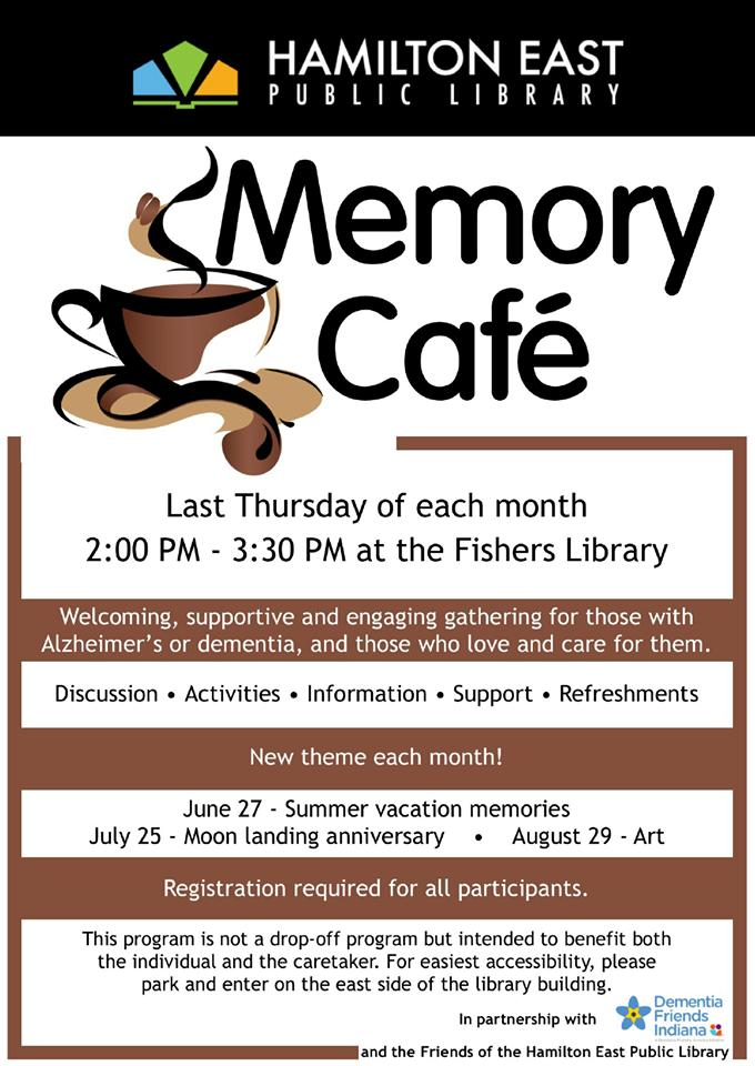 Memory Café at Fishers Library