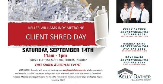 Client Shred Day at Keller Williams Indy Metro NE