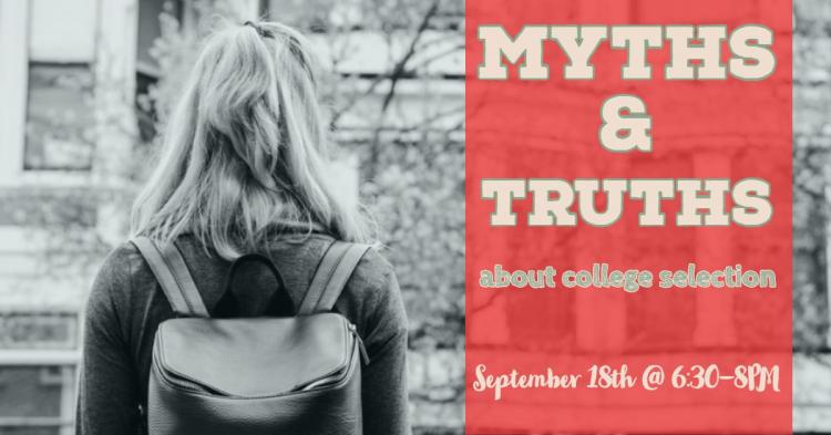 Myths & Truths About College Selection at Zionsville Library