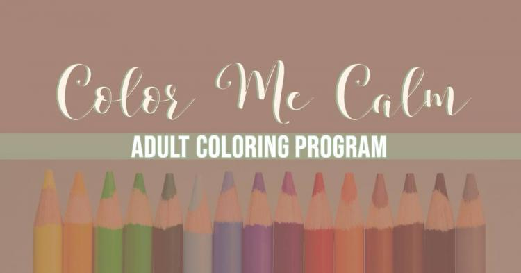 Color Me Calm Adult Coloring Program at Zionsville Library