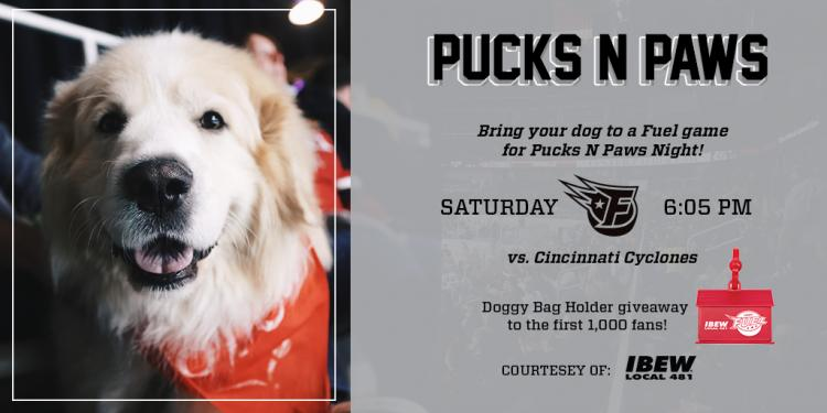 Indy Fuel Hockey - Pucks & Paws Night