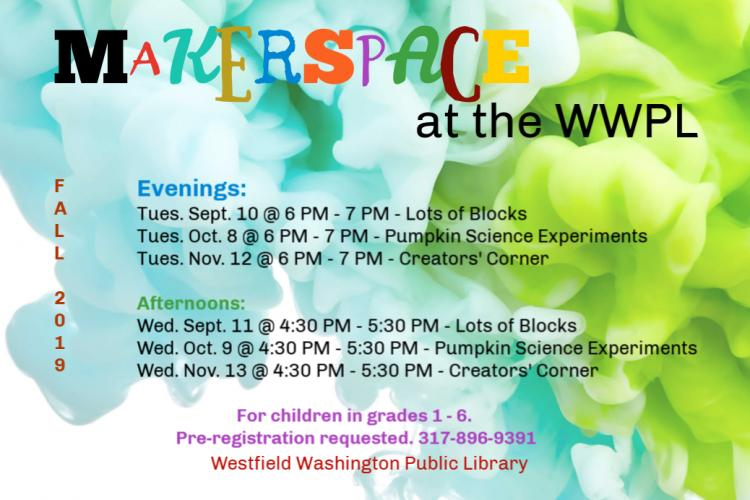 Evening Makerspace at WWPL