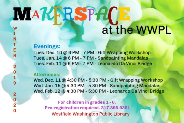 Afternoon Makerspace at WWPL
