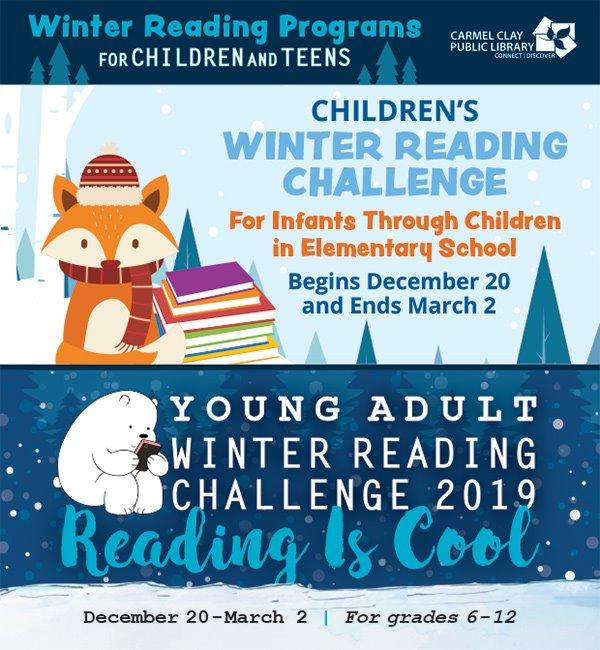 CCPL Winter Reading Challenge for Kids & Teens - Continues!