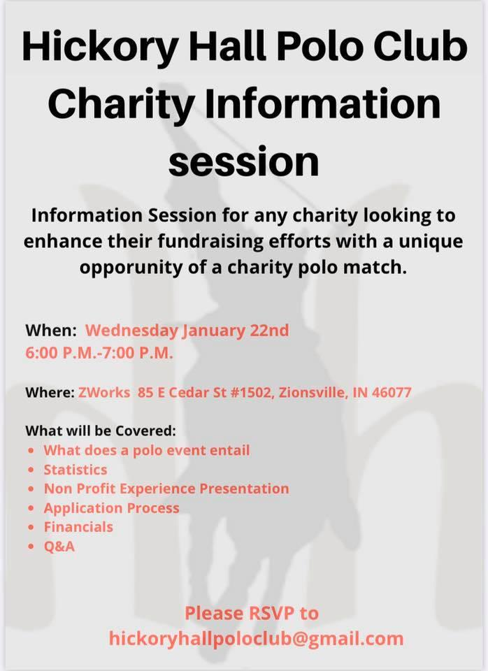Hickory Hall Polo Charity Information Session