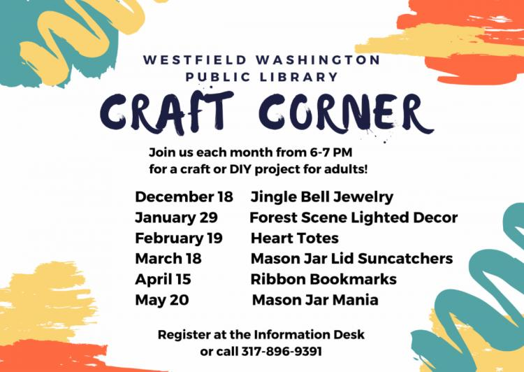 Craft Corner for Adults at WWPL