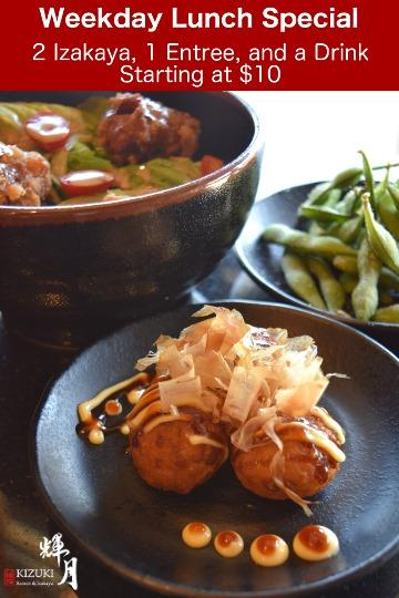 Weekday Lunch Special at Kizuki Ramen & Izakaya
