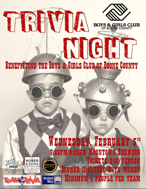 Trivia Night benefiting the Boys & Girls Club of Boone County