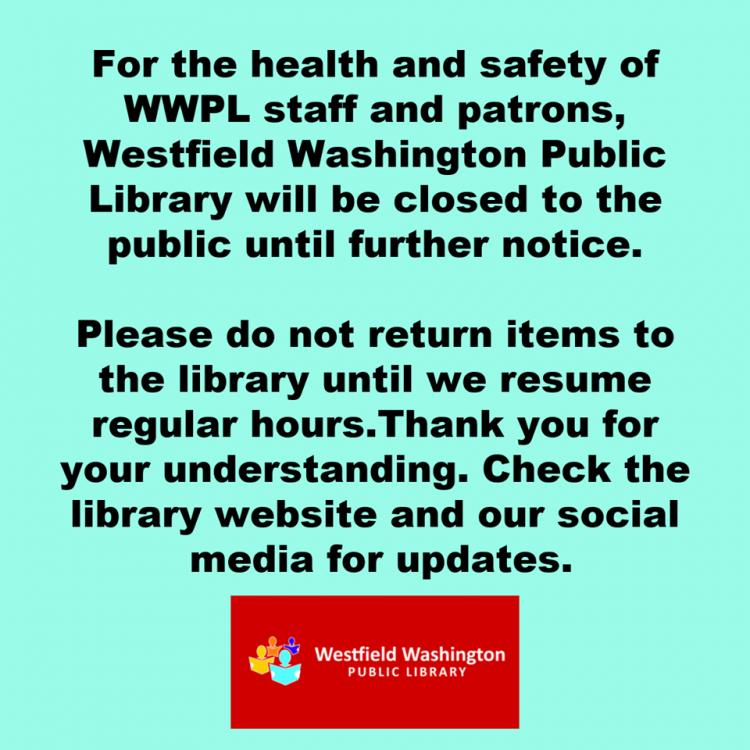 Westfield Library - Online is OPEN!