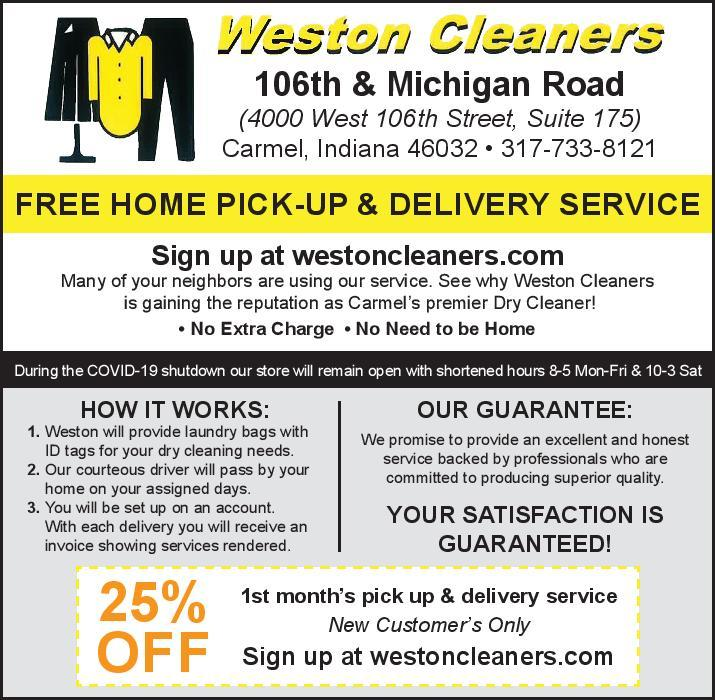 Weston Cleaners - New Customer Promotion!
