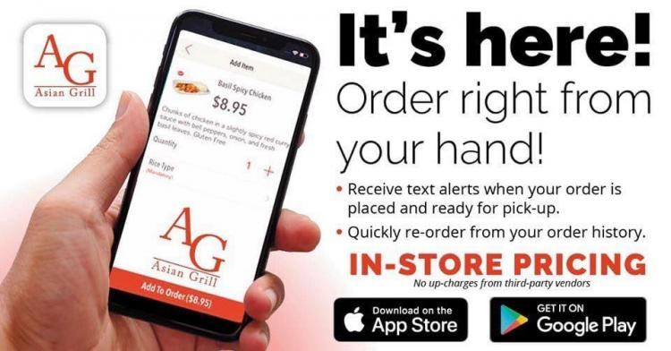 Asian Grill - NEW MOBILE APP for Take Out Orders!