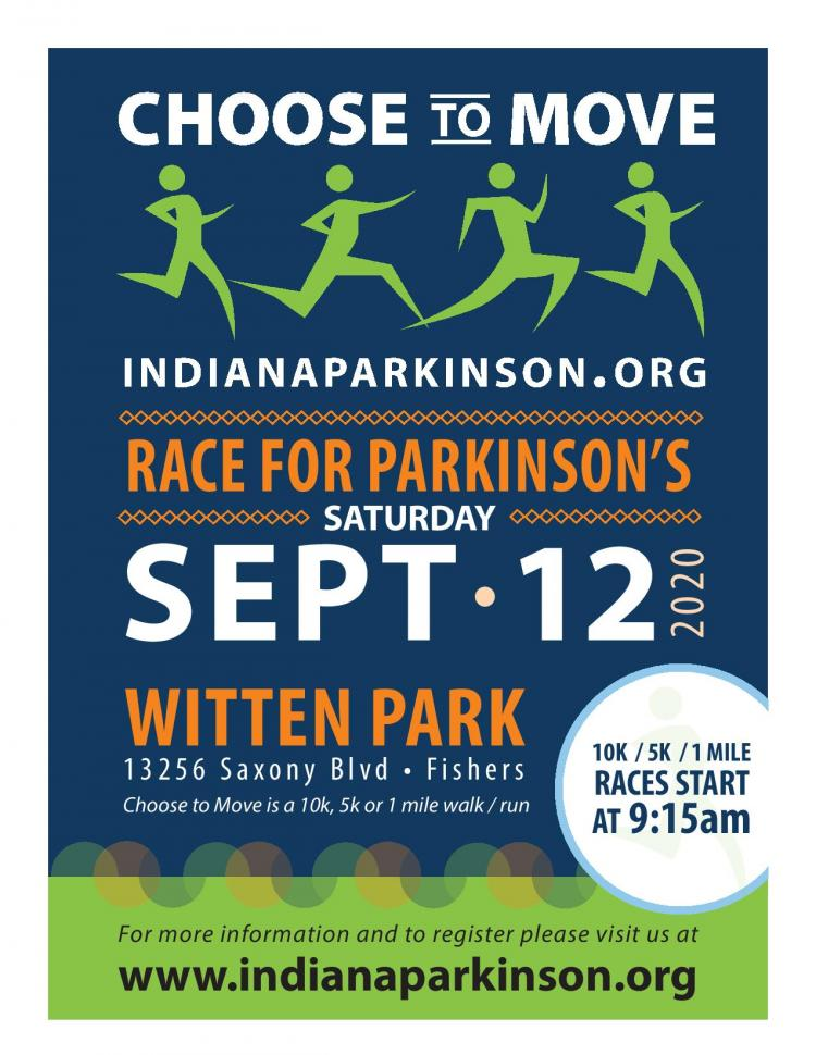 Save the Date for Choose to Move 2020 - Race for Parkinson's