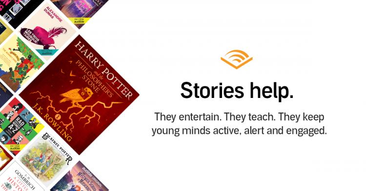 Audible Stories - FREE while Schools are Closed