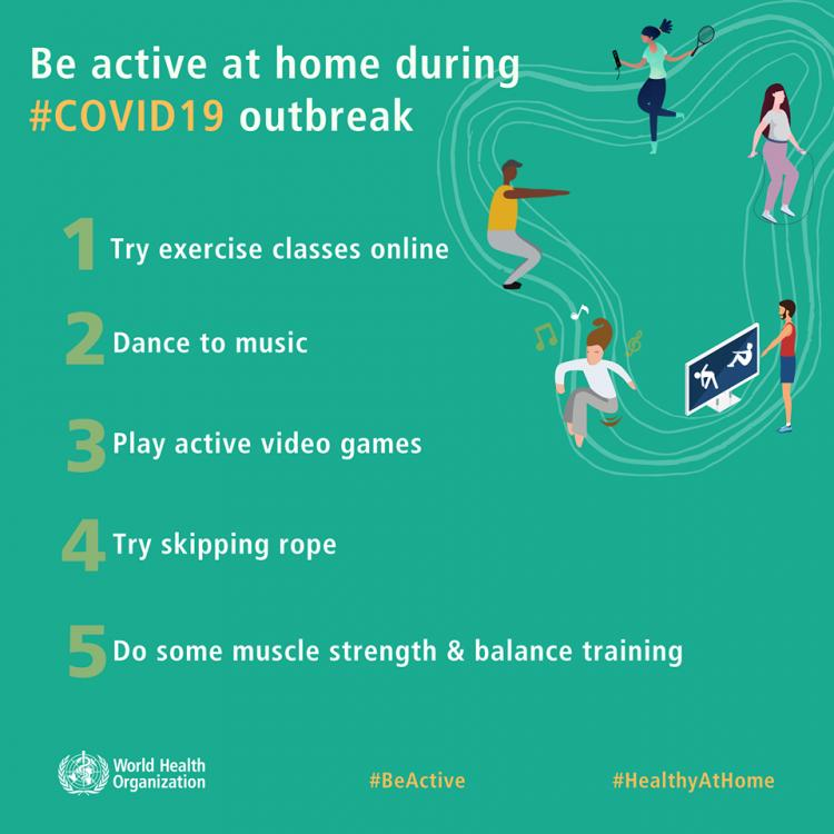 WHO's Be Active Campaign to Stay Healthy at Home!