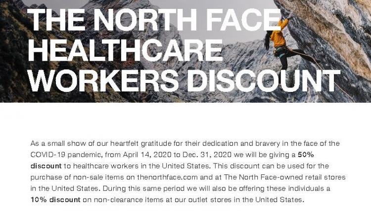 North Face Health Care Worker Discount