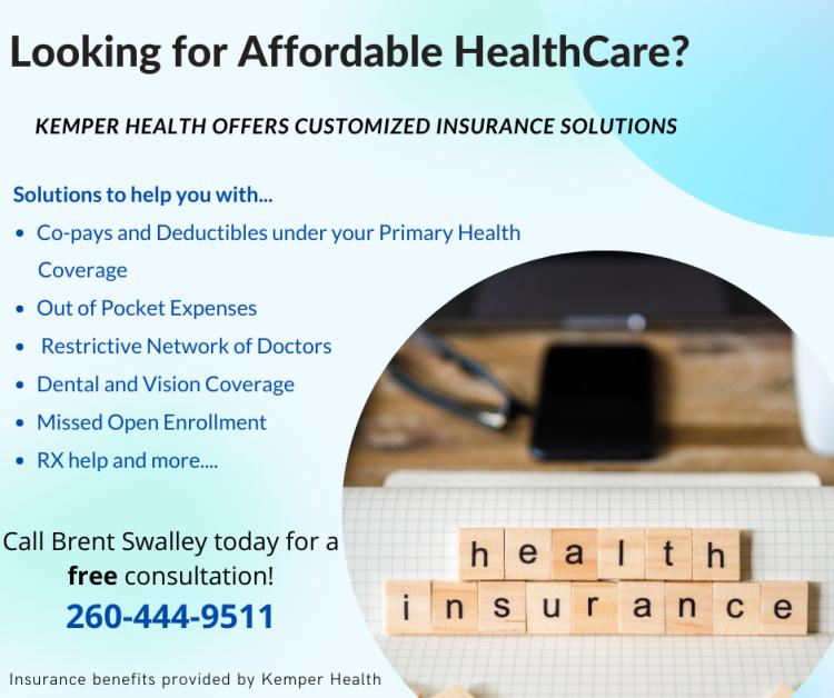 Brent Swalley at Kemper Health Insurance - For Your Healthcare Needs