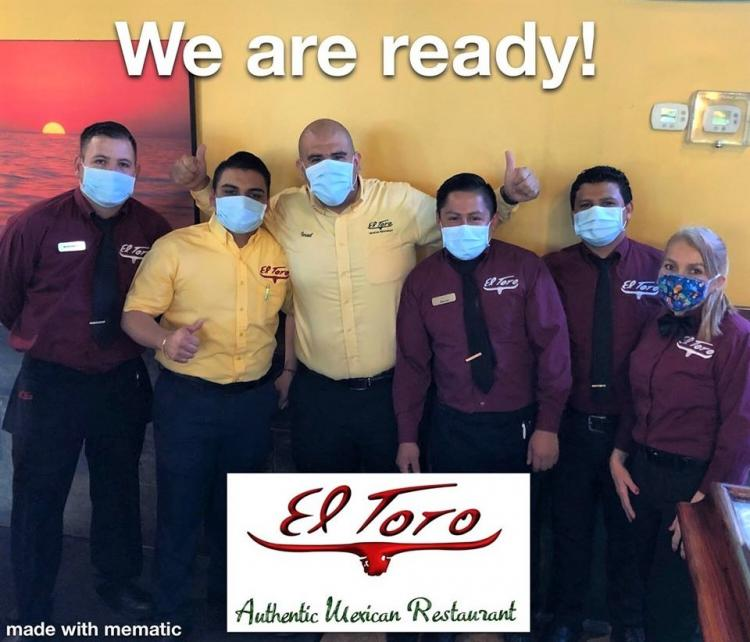 El Toro Zionsville OPEN for Dine In, Carryout, & Delivery!