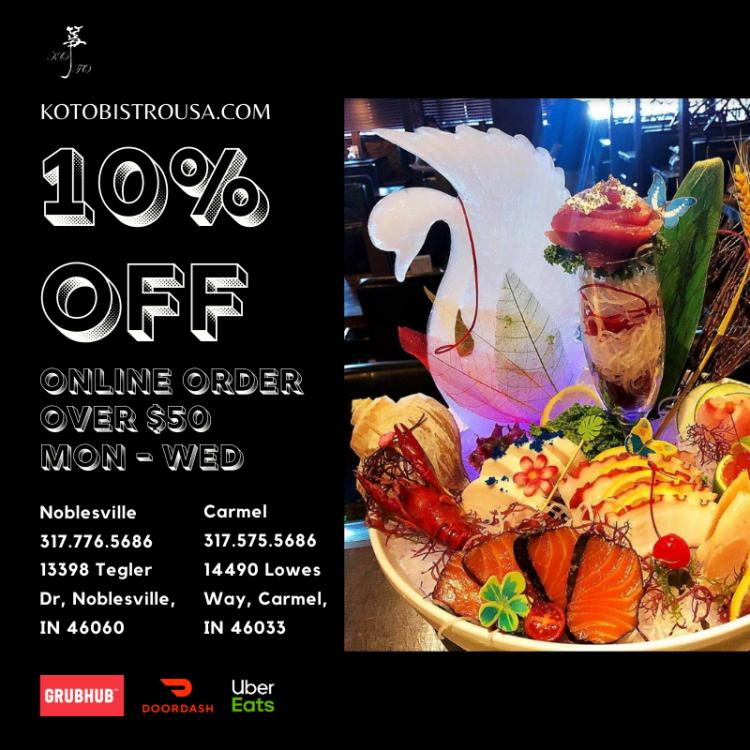 Koto Japanese Steakhouse Carmel - Open for Takeout & Delivery