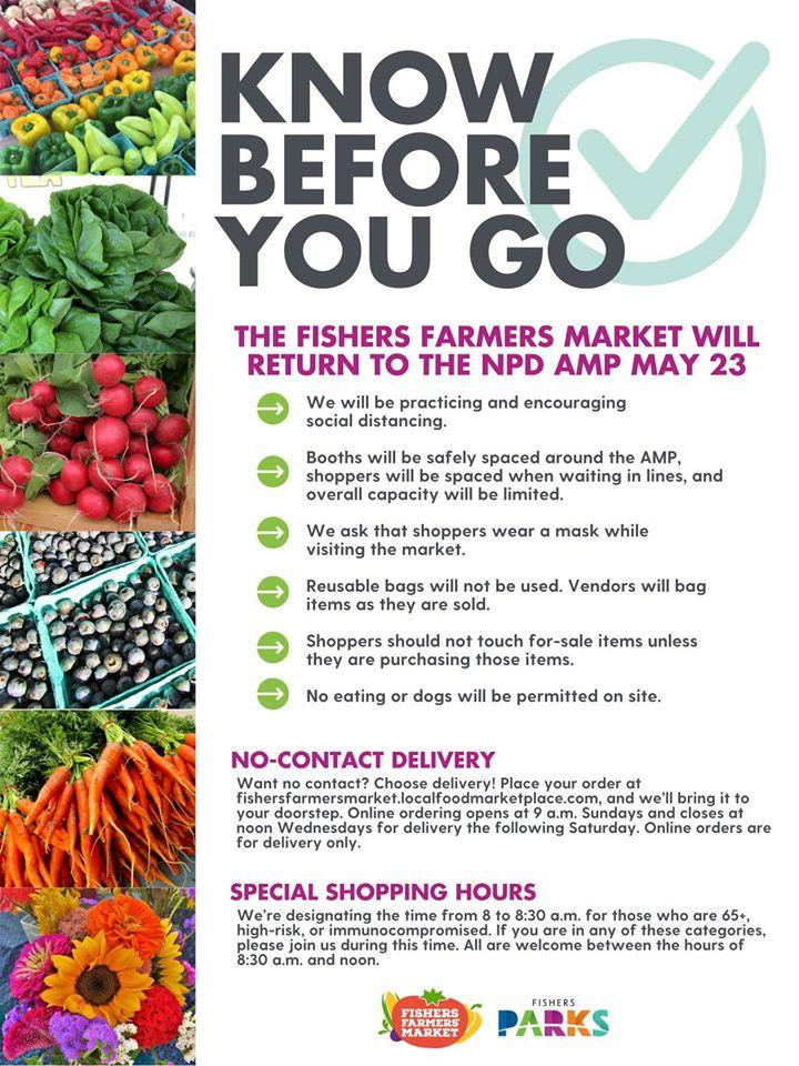 Fishers Farmers Market *Special Shopping Time & COVID-19 Guidelines*