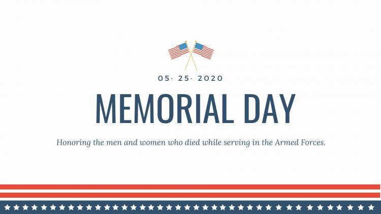 Memorial Day Ceremony in Fishers **Now Virtual