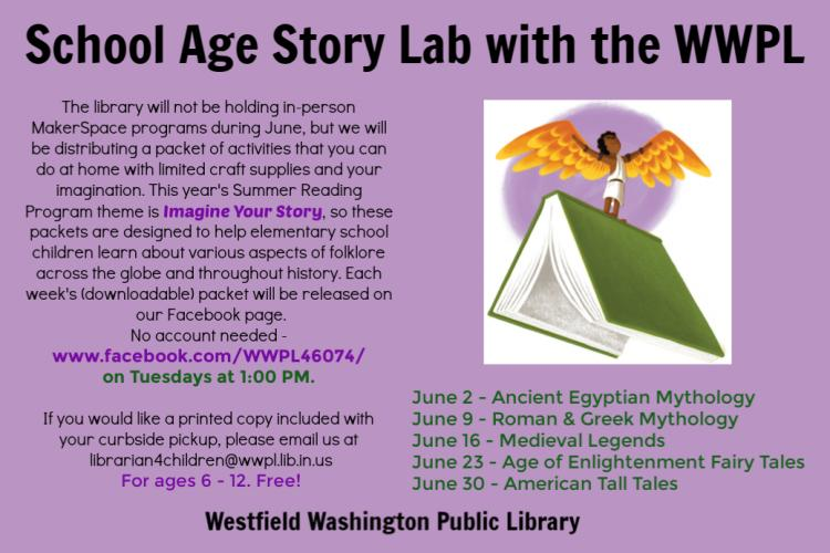 Westfield Library's School Age Story Lab