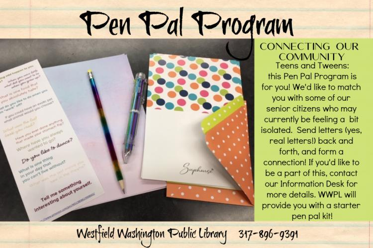 Pen Pal Program at Westfield Library