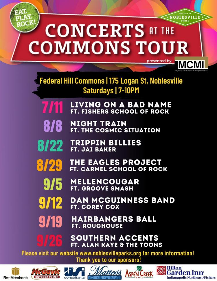FREE Concerts at the Commons - Wristbands Required!