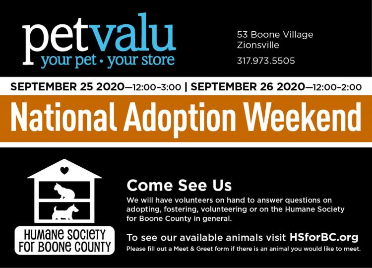 Adoption Event for Humane Society for Boone County!