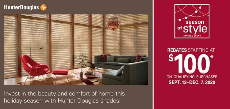 Season of Style Savings Event at Adkins Draperies & Blinds