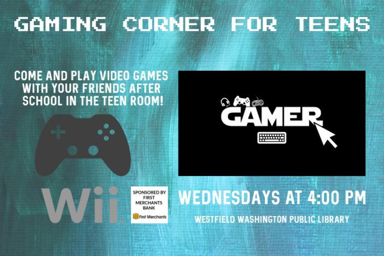 Gaming Corner for Teens at Westfield Library