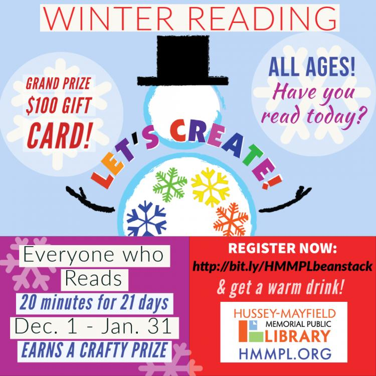 Winter Reading Program at Zionsville Library