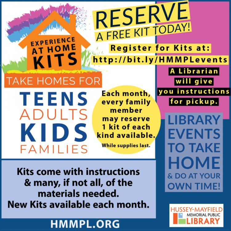 Experience At Home Kits at Zionsville Library