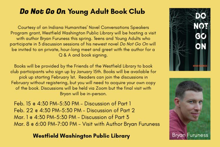 Young Adult Book Club - Author Visit